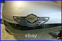 2003 Harley Davidson FLHTC 100th Anniversary Gas Tank Fuel Pump Emblems