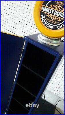 42 Harley Davidson Gas Pump Cabinet with light. Man Cave/Gameroom Decor