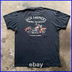 HARLEY DAVIDSON'AMERICAN STEEL' 1988 Rare Vintage 3d Emblem T Shirt