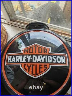 Harley Davidson Gas Pump Globe lens single lens