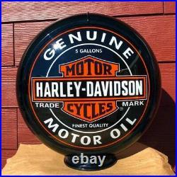 Harley Davidson Genuine Motor Oil Gas Pump Globe or Lamp FREE SHIPPING