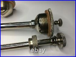 Harley Davidson J Jd F Flathead 1916-1924 Oil Pump Caps Priming Pump Set Nickiel