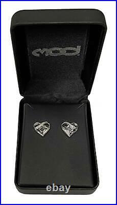 Harley-Davidson Women's Infinity Thorn Heart Post Earrings, Sterling Silver