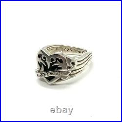 Harley Davidson Women's Sterling Silver Heart Shaped Ring