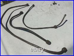 Harley-davidson 45 Flathead Wl Wla G Engine Oil Tank Pump Lines Originals Used