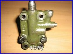 Harley davidson wla, wlc, g flathead servi 45ci army oil feed pump twin valve NOS