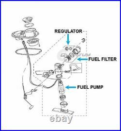Quantum Fuel Pump +Reg, Filter +Gasket for 10-17 Harley-Davidson Dyna Wide Glide
