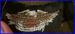 Vintage 90s 00 Harley-Davidson Heart Tank Top Shirt Motorcycle Small bling USA