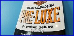 Vintage Harley Davidson Motorcycle Porcelain Dealership Oil Quart Can Pump Sign