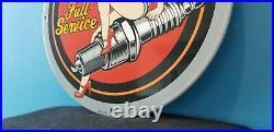 Vintage Harley Davidson Motorcycle Porcelain Service Station Spark Pump Sign